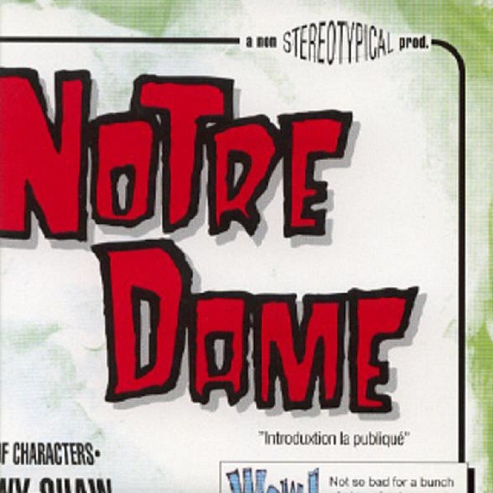 Notre Dame - Coming Soon to a Theatre Near You (1998) Cover