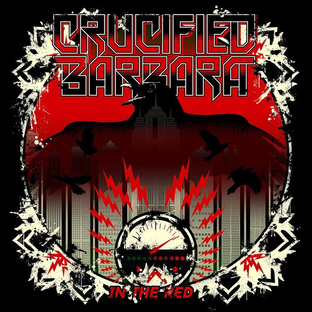 Crucified Barbara - In the Red (2014) Cover
