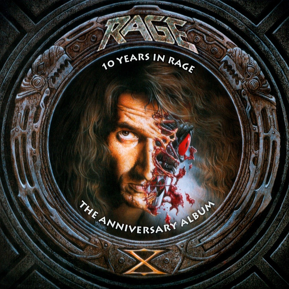 Rage - 10 Years in Rage: The Anniversary Album (1994) Cover